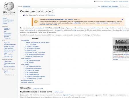Couverture (construction)  Wikipédia