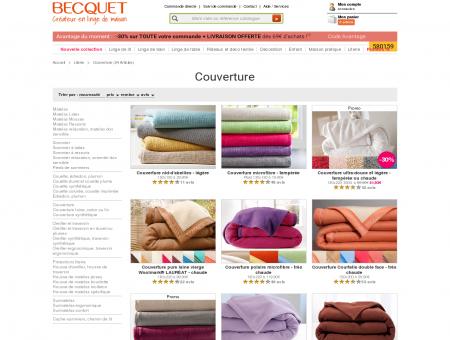 Couverture - Becquet - Créateur en linge de...