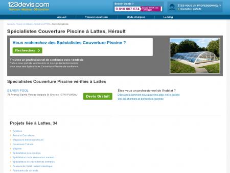 Couverture piscine Lattes Hérault, bache : prix ...