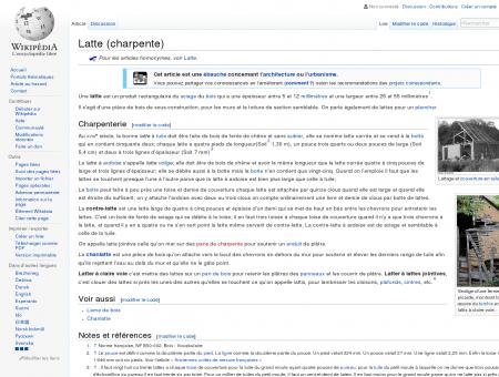 Latte (charpente)  Wikipédia