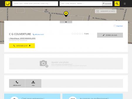 C G COUVERTURE Mainvilliers (adresse) -...