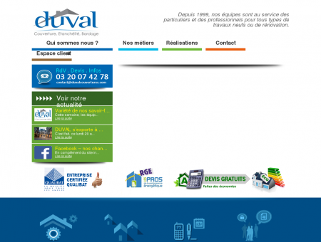 Accueil - Duval couvertures