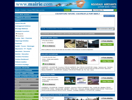 Couverture toiture / Couvreur Le Port-Marly :...