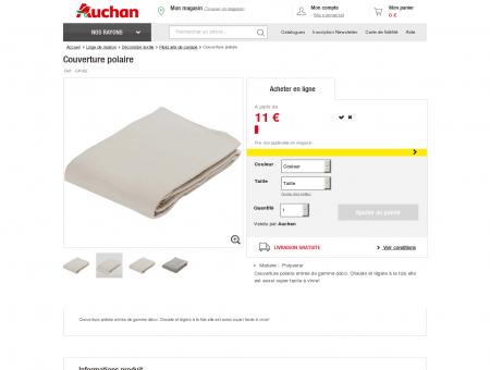 Couverture polaire à prix Auchan : pas cher et...