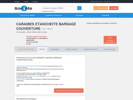 CARAIBES ETANCHEITE BARDAGE...