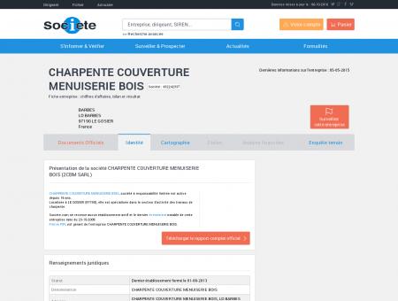 CHARPENTE COUVERTURE MENUISERIE BOIS...