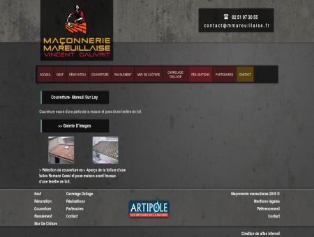 Couverture- Mareuil sur Lay : Maçonnerie...