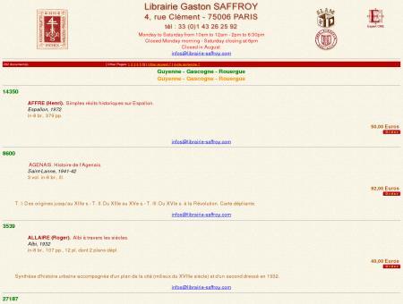 Librairie Gaston SAFFROY - Antique and...