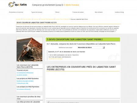 Travaux de couverture Labastide Saint Pierre,...