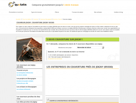 Couvreur Joigny, Couverture Joigny 89300