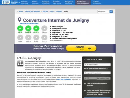 Couverture Internet de Juvigny - Comparatif...