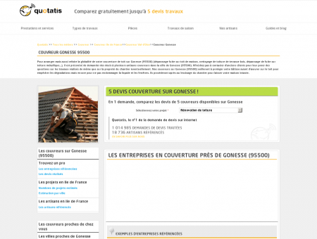 Couvreur Gonesse - 5 devis Couvreur Gonesse...