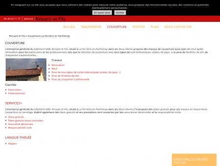 Couverture - Maçon et couvreur à La Ferrière...