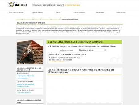 Couvreur Ferrières en Gâtinais - 5 devis gratuits