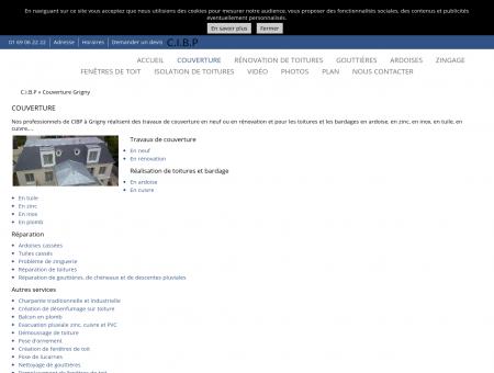 Couverture (entreprises) Grigny - CIBP -...