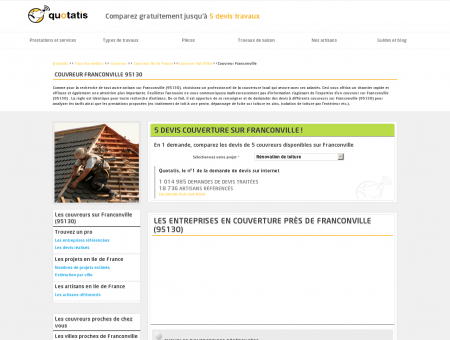 Couvreur Franconville - 5 devis Couvreur...