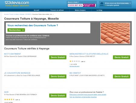 Toitures Hayange Moselle : zinc, ardoise, tuile :...