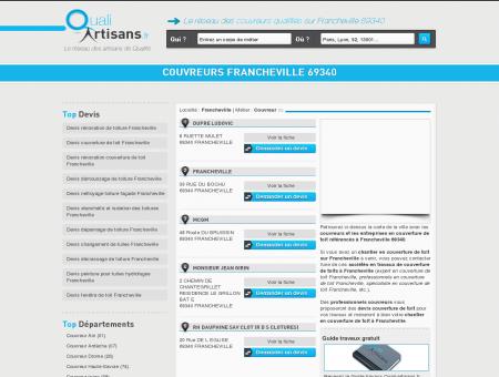 Couvreur Francheville 69340