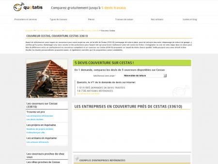 Couvreur Cestas, Couverture Cestas 33610 -...