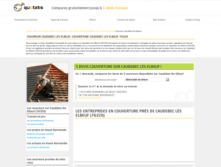 Couverture Caudebec lès Elbeuf, 5 devis...