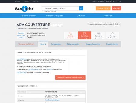 ADV COUVERTURE (CHAMBON LA FORET)...