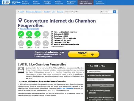 Couverture Internet du Chambon Feugerolles