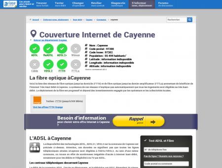 Couverture Internet de Cayenne - Comparatif...