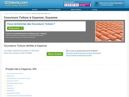 Toitures Cayenne Guyanne : zinc, ardoise, tuile :...