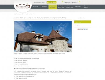 Couverture Zinguerie - Puy de dôme...