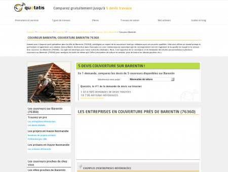 Couvreur Barentin, Couverture Barentin 76360