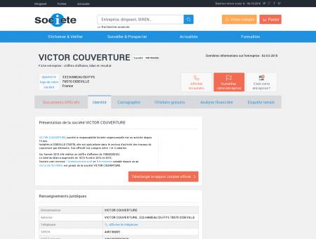 VICTOR COUVERTURE (BARENTIN) Chiffre...