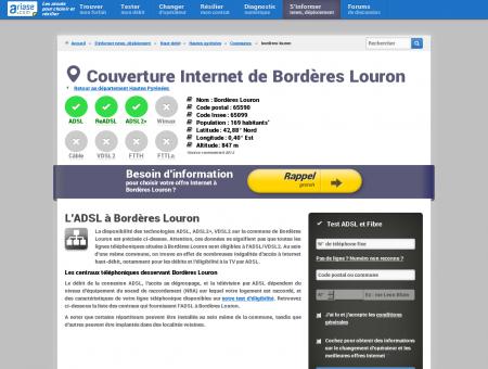 Couverture Internet de Bordères Louron -...