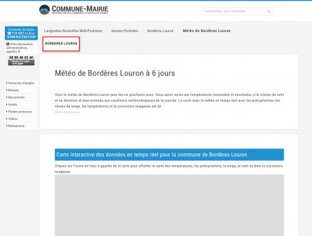Météo Bordères Louron (65590), Météo...