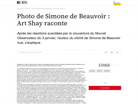 Photo de Simone de Beauvoir : Art Shay...