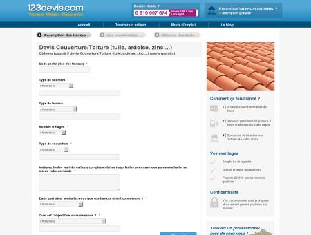 Devis Gratuit de Couvreur | 123devis.com