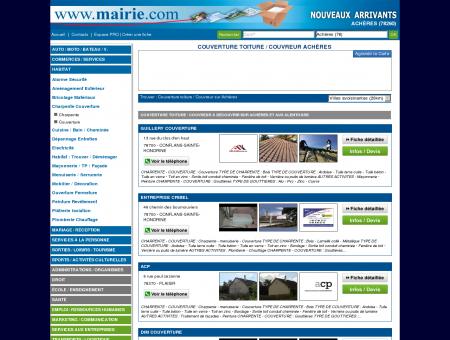 Couverture toiture / Couvreur Achères :...