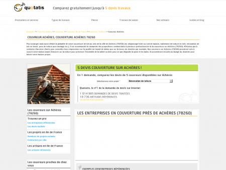 Couvreur Achères, Couverture Achères 78260