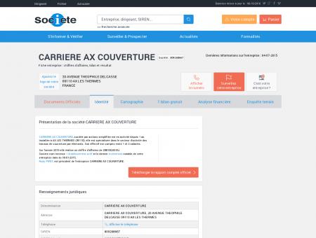 CARRIERE AX COUVERTURE (AX LES...