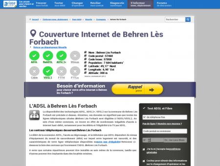 Couverture Internet de Behren Lès Forbach