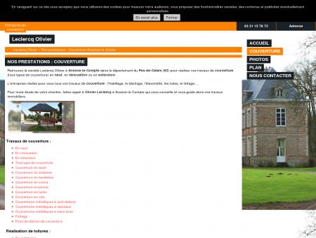 Couverture à Avesnes-le-Comte (62) -...