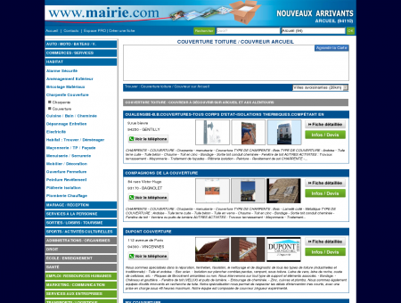 Couverture toiture / Couvreur Arcueil :...
