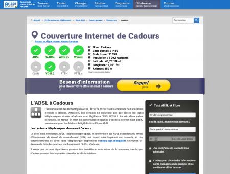Couverture Internet de Cadours - Comparatif...
