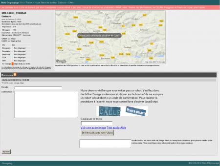 Stats-dégroupage : Informations sur CA831 -...