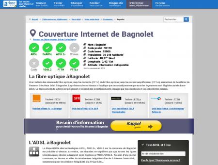 Couverture Internet de Bagnolet - Comparatif...