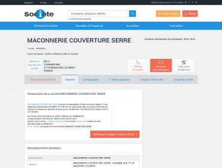 MACONNERIE COUVERTURE SERRE...