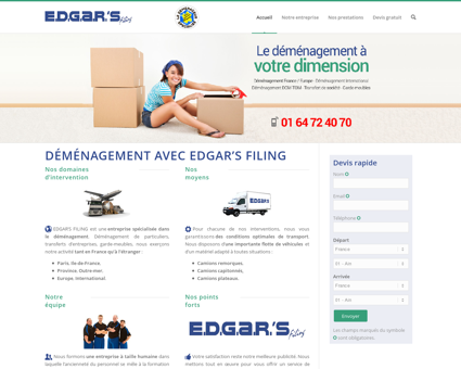 Demenagement avec EDGAR'S FILING