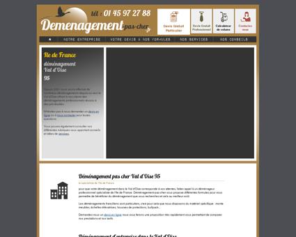 Déménagement pas cher, Val d'Oise (95) et...