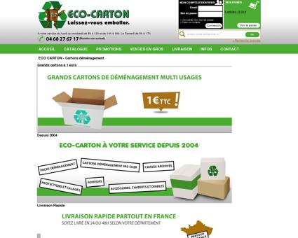 ECO CARTON Cartons demenagement et...