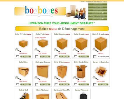 Boîtes de déménagement   Boutique BoxBoxes ...