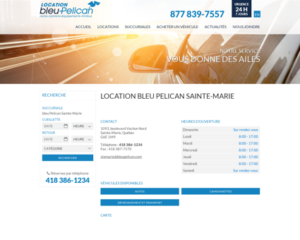 Location bleu Pelican Sainte-Marie - bleu...